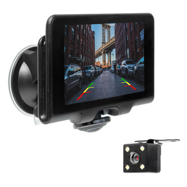 "Master Tailgaters Windshield Mount DVR Dash Cam with 5"" Touch Screen, Four Display Modes, GPS, 1080P HD DVR Recording, and Panoramic 360° Camera - Highest Quality DVR on the market!"