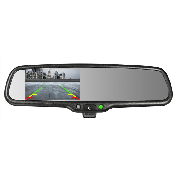 "Master Tailgaters Manual Dimming Rear View Mirror with 4.3"" Auto Adjusting Brightness LCD"