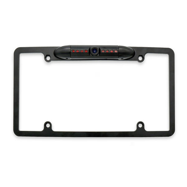Master Tailgaters License Plate Frame Front or Backup Camera with 8 IR LED Night Vision, Metal Construction, 170° Wide Angle Camera, and Waterproof Design