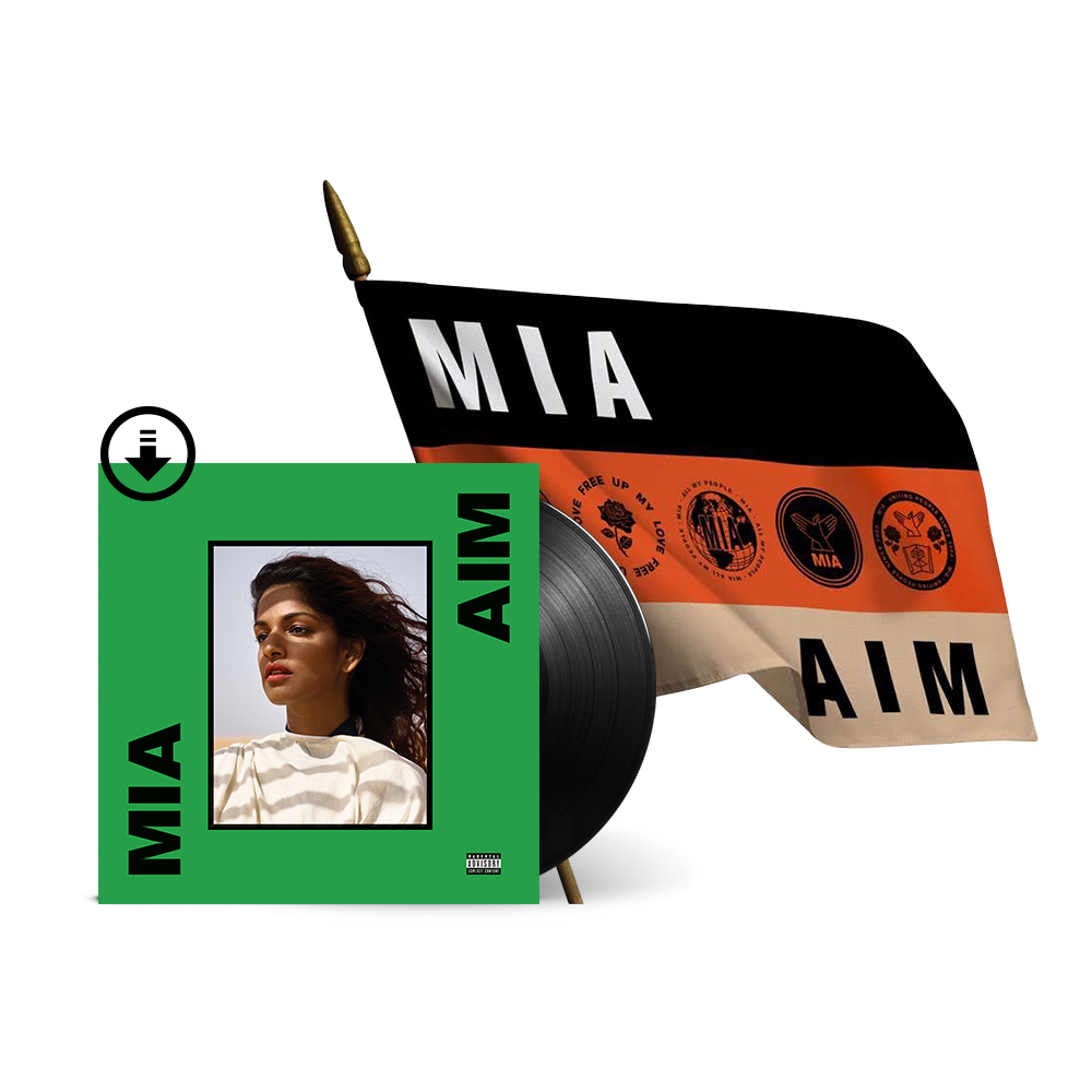AIM Deluxe Vinyl + Digital Album + Flag