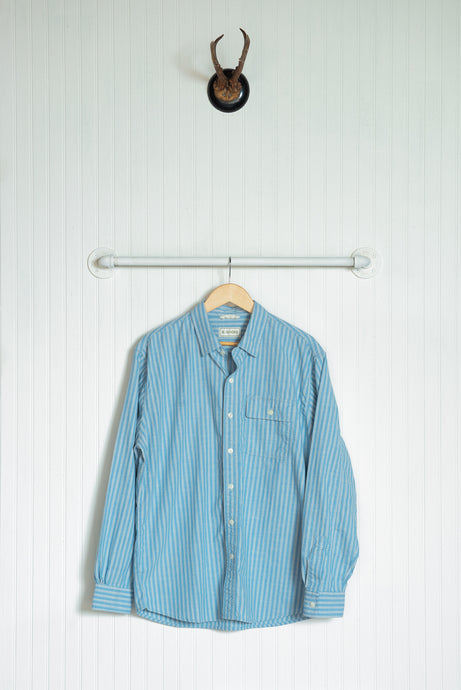 Chambray Quinn Work Shirt - Sky Blue Stripe