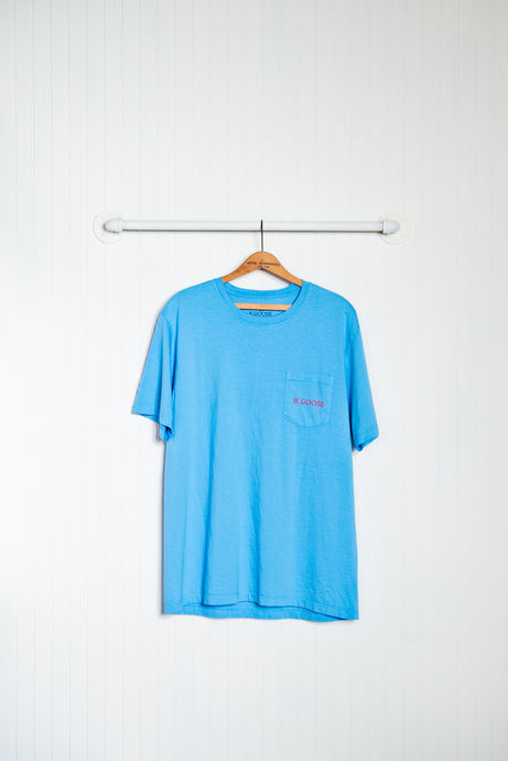 Signature Pocket T-Shirt - Azure