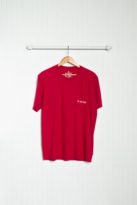 Signature Pocket T-Shirt - Crimson