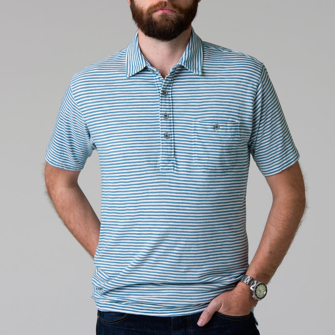 Harbor Polo - Indigo & White