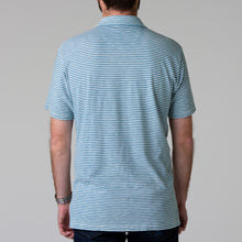 Load image into Gallery viewer, Harbor Polo - Indigo & White
