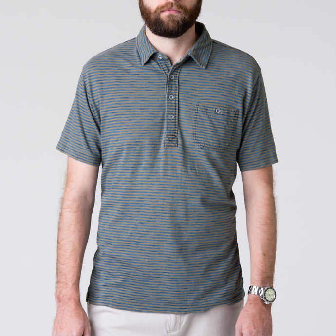 Harbor Polo - Indigo & Olive