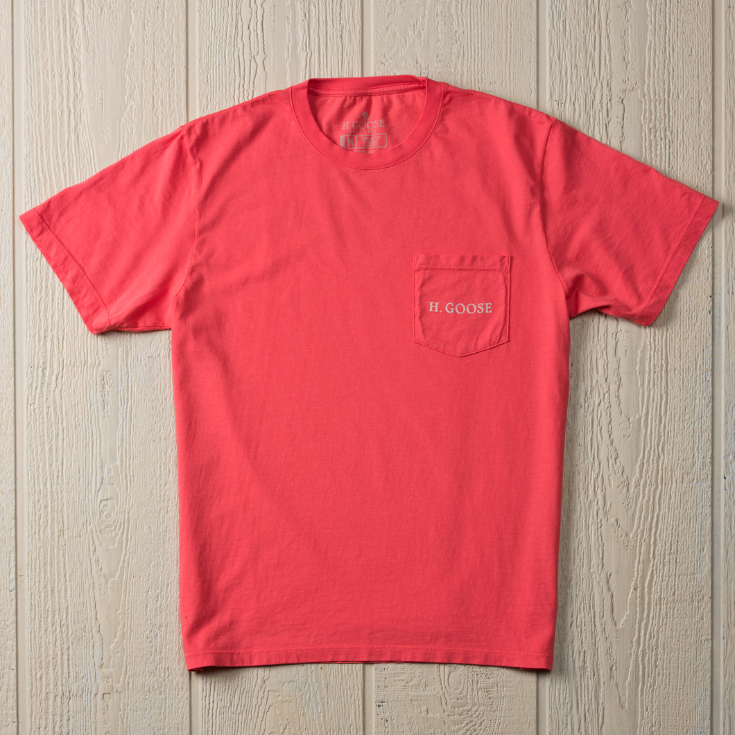 Signature Pocket T-Shirt - Coral