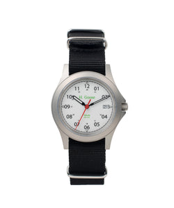 35mm White Dial Saluda Field Watch