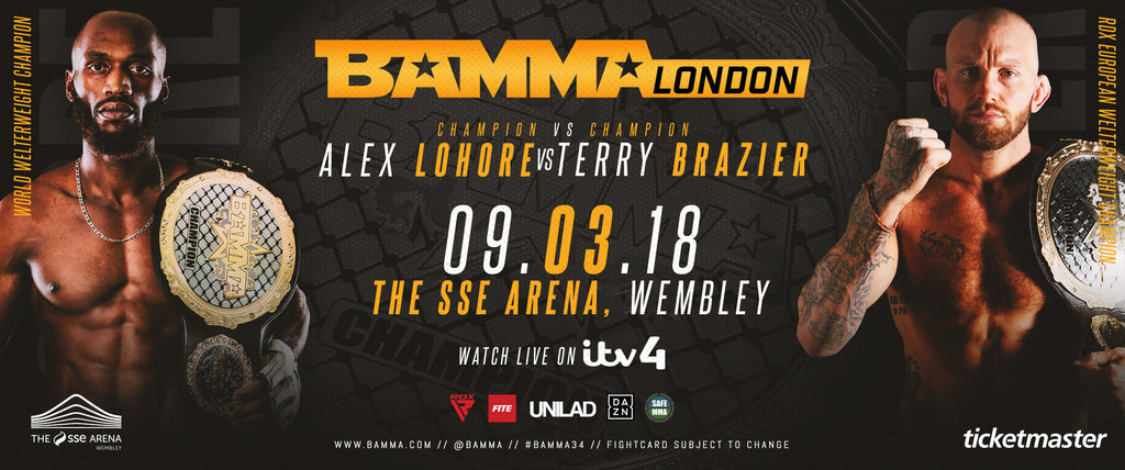 BAMMA World Title Fight Brazier Vs Lahore