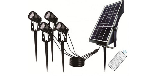 Quadruple Warm White Solar Spotlight IS-SSQ-1