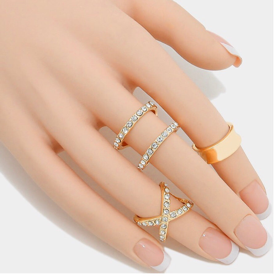 Diamond Cross Rings