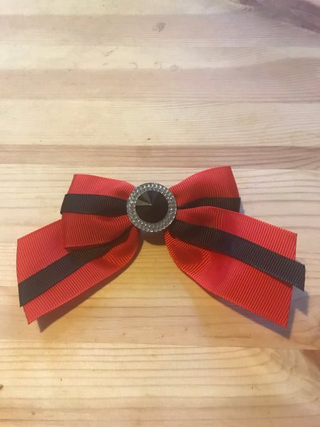 Red and Black Bow