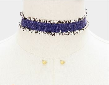 Edge Fabric Choker