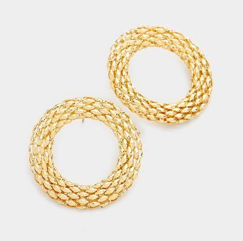 Round Chain Hoop Earrings
