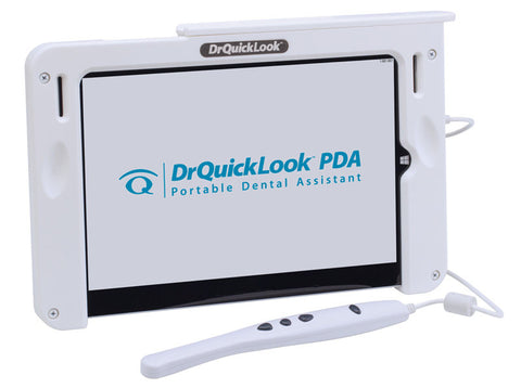 "DrQuickLook Intraoral Camera PDA Tablet with Patient Education Videos and 10.8"" Touch Screen - Pre-Loaded with Easy Touch Imaging Software"