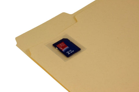 Adhesive Vinyl SD Card Pockets for Paper Charts (100 Qty)