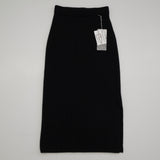 Cashmere Rib Skirt - Black