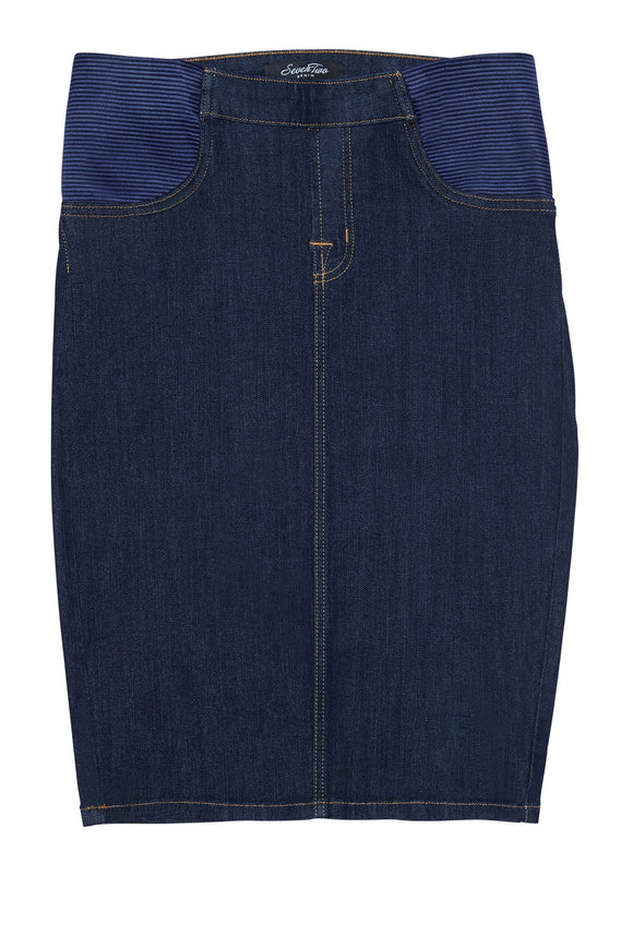 Indigo Maternity Denim Skirt