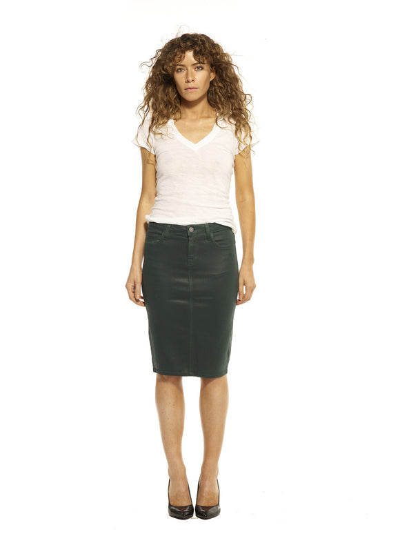 Forest Wax Maternity Skirt