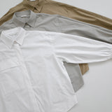 Shirring Sleeve Button down - White