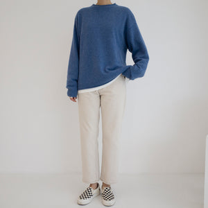 Cashmere Roll Neck Pullover - Blue