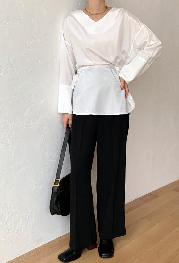 Silky tie Blouse
