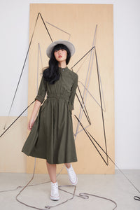 Cupro Dress / Khaki