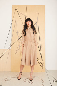 Cupro Dress / Tan