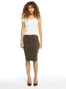 Army Green Maternity Skirt