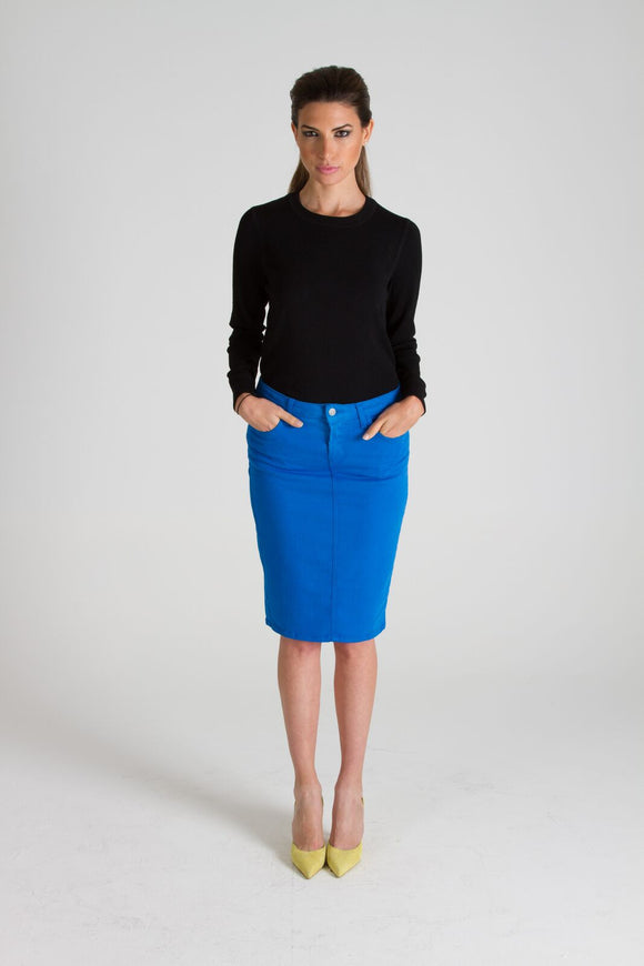 Cobalt Blue Pencil Skirt