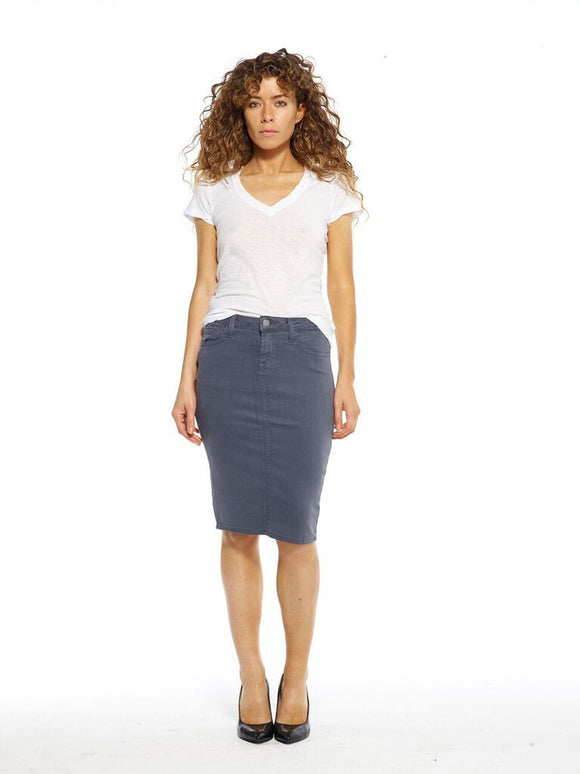 Grey Maternity Pencil Skirt