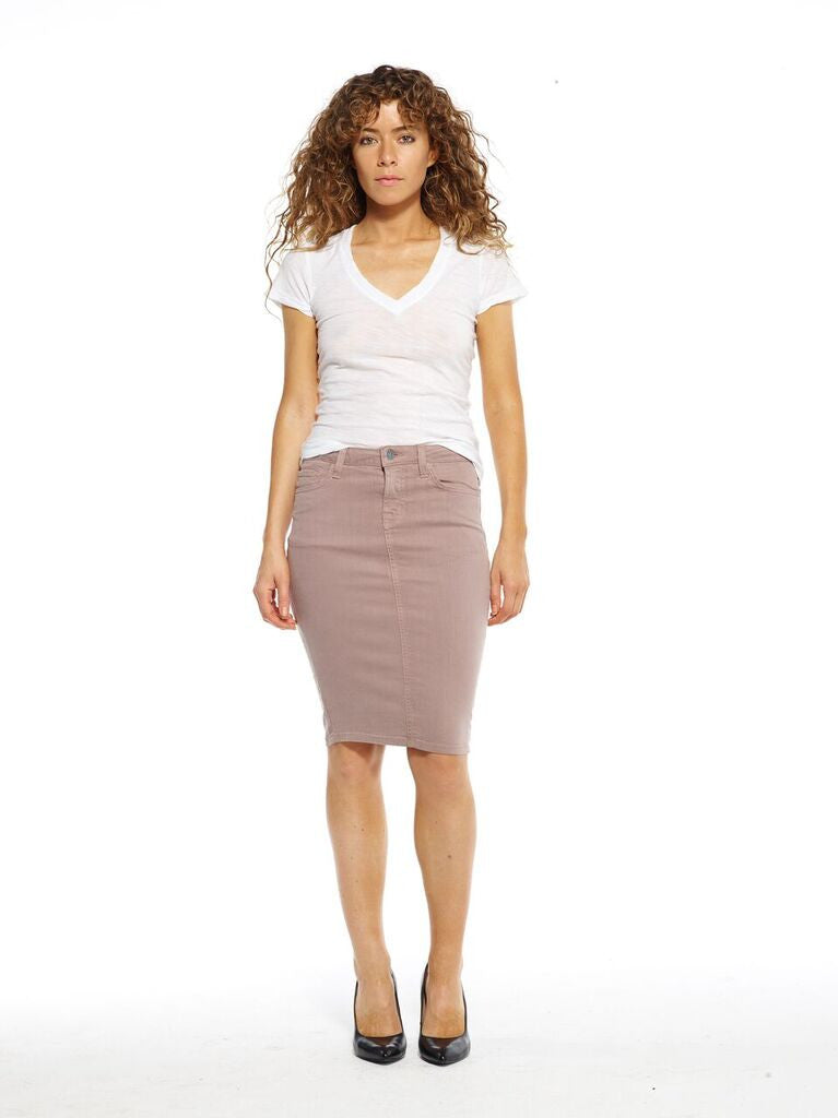 Wet Sand Pencil Skirt