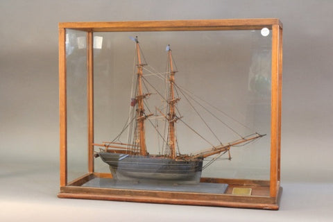 "Antique Model of ""Star of Dover"" Brigantine"