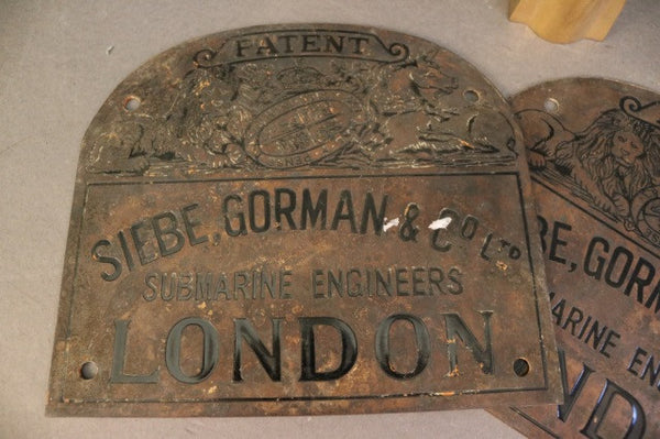 4 Pieces of Siebe Gorman Memorabilia