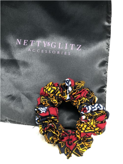 Ankara Scrunchies Multicolored Ankara