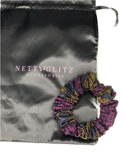 Ankara Scrunchies Purple Ankara