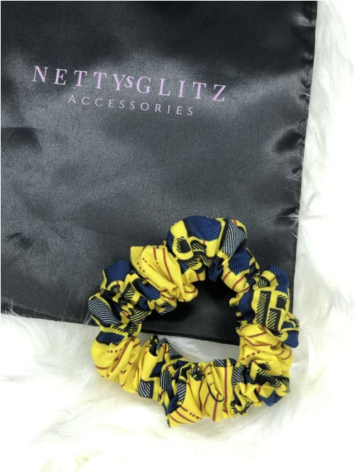 Ankara Scrunchies Yellow Ankara