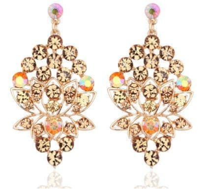 AUSTRIAN CRYSTAL Champagne Earrings