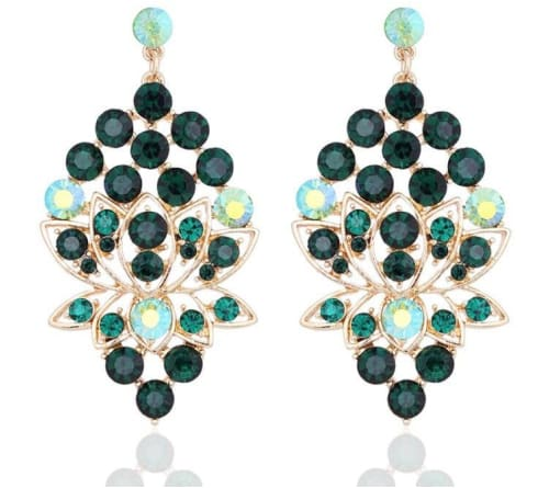 AUSTRIAN CRYSTAL EverGreen Earrings