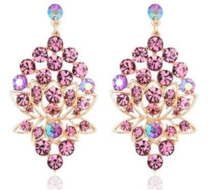 AUSTRIAN CRYSTAL Pink Earrings
