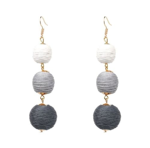 BALL DROP EARRINGS Shades of Grey Earrings