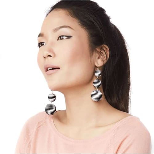 BALL DROP EARRINGS Stripes Earrings
