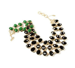 BLACK & GREEN DUO NECKLACE Necklace