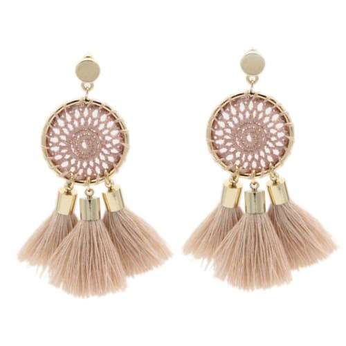 DREAM TASSELS Pink Earrings