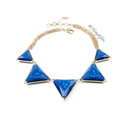GEOMETRIC BLUE NECKLACE Necklace