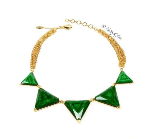 GEOMETRIC EMERALD NECKLACE Necklace