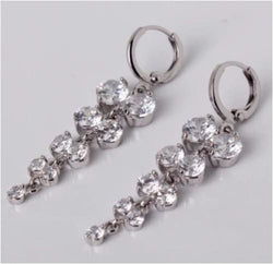 GISELLE Crystal Dangle Drops Earrings