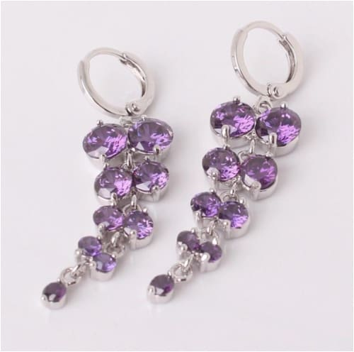GISELLE Purple Earrings