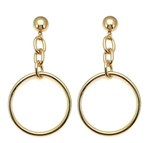 HOOP AND CHAIN gold Earrings