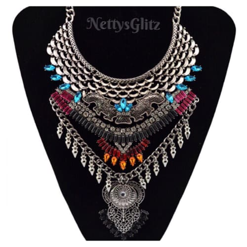 MINERVA VINTAGE BIB NECKLACE necklace
